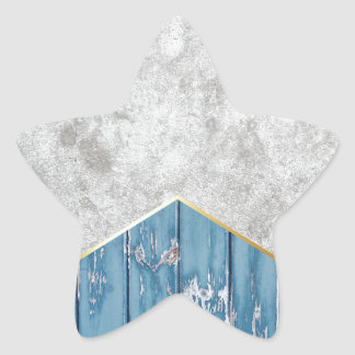 Concrete Arrow Blue Wood #347 Star Sticker