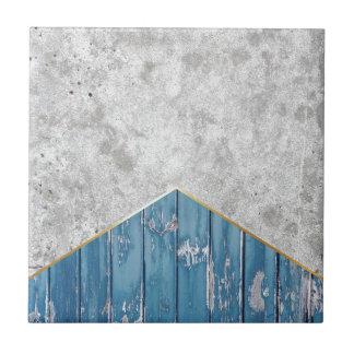 Concrete Arrow Blue Wood #347 Tile