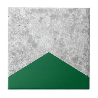 Concrete Arrow Forest Green #326 Ceramic Tile