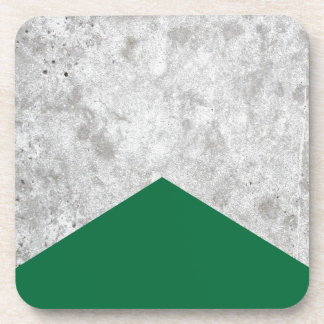 Concrete Arrow Forest Green #326 Coaster