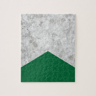 Concrete Arrow Forest Green #326 Jigsaw Puzzle