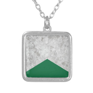 Concrete Arrow Forest Green #326 Silver Plated Necklace
