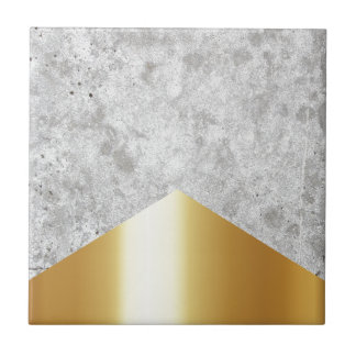 Concrete Arrow Gold #372 Ceramic Tile