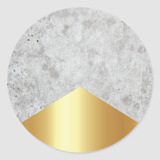 Concrete Arrow Gold #372 Classic Round Sticker