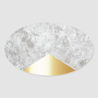 Concrete Arrow Gold #372 Oval Sticker