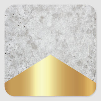 Concrete Arrow Gold #372 Square Sticker