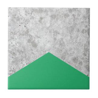 Concrete Arrow Green #175 Ceramic Tile