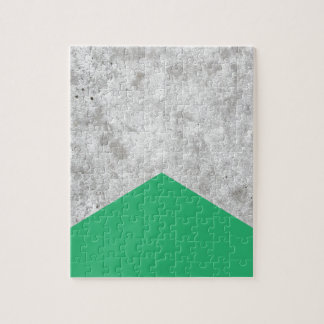 Concrete Arrow Green #175 Jigsaw Puzzle