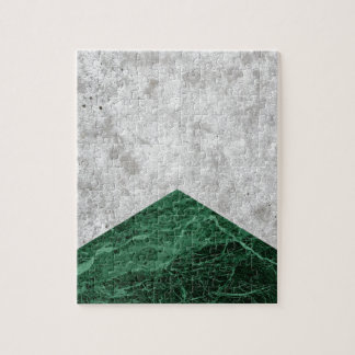 Concrete Arrow Green Granite #412 Jigsaw Puzzle