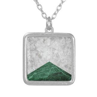 Concrete Arrow Green Granite #412 Silver Plated Necklace