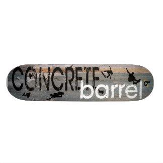 Concrete Barrel X 19.7 Cm Skateboard Deck