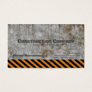 Concrete Caution Construction Company Business Card