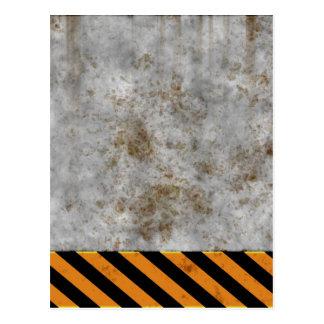 Concrete Caution Construction Postcard