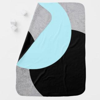 Concrete Circles Baby Blanket