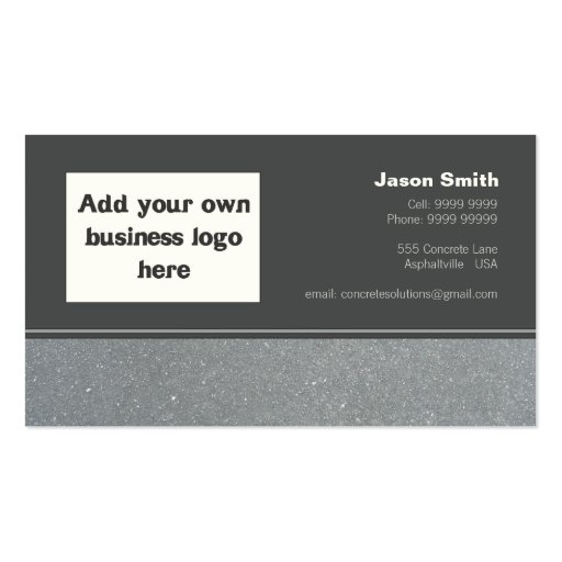 concrete constructions commission design template pack of standard business cards zazzle. Black Bedroom Furniture Sets. Home Design Ideas