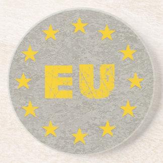Concrete EU Flag Drink Coaster