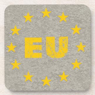 Concrete EU Flag Drink Coasters