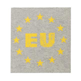 Concrete EU Flag Notepad