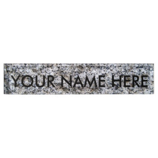 CONCRETE IN THE SECOND DEGREE: THE GRANITE WALL! NAME PLATE