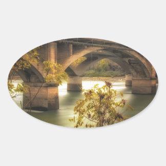 Concrete Jungle Oval Sticker