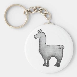 Concrete Llama Keychain