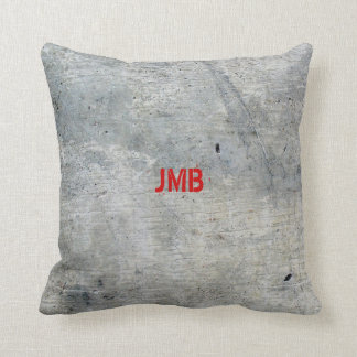 Concrete Look Throw Pillow (square)