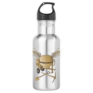 Concrete mixer beige 532 ml water bottle