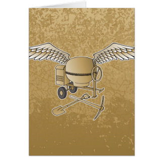 Concrete mixer beige card