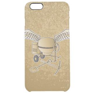 Concrete mixer beige clear iPhone 6 plus case