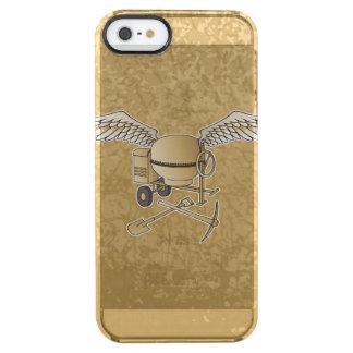 Concrete mixer beige clear iPhone SE/5/5s case