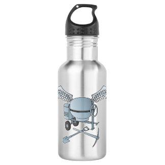 Concrete mixer blue-gray 532 ml water bottle