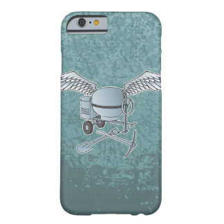Concrete mixer blue-gray barely there iPhone 6 case