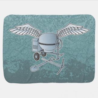 Concrete mixer blue-gray buggy blanket