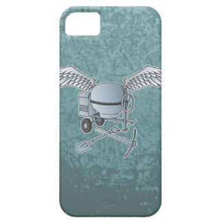 Concrete mixer blue-gray case for the iPhone 5