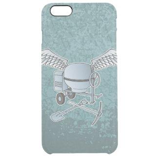 Concrete mixer blue-gray clear iPhone 6 plus case