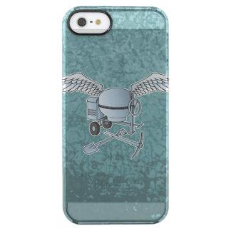 Concrete mixer blue-gray clear iPhone SE/5/5s case