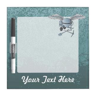 Concrete mixer blue-gray dry erase board