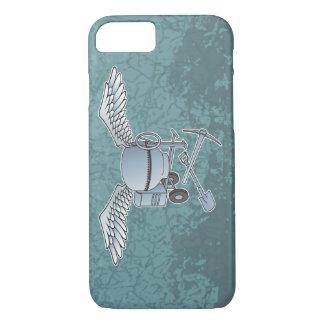Concrete mixer blue-gray iPhone 8/7 case