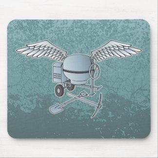 Concrete mixer blue-gray mouse pad