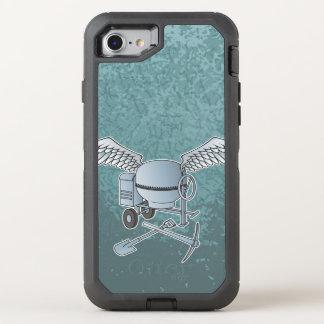 Concrete mixer blue-gray OtterBox defender iPhone 8/7 case