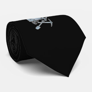 Concrete mixer blue-gray tie