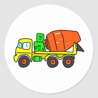 Concrete Mixer Classic Round Sticker