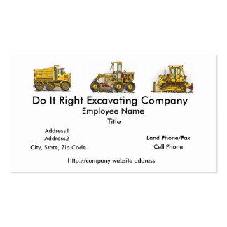 Concrete Mixer Construction Business Cards