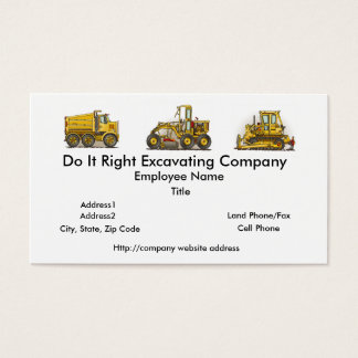 Concrete Mixer Construction Business Cards