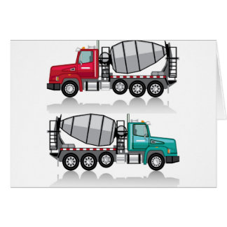 Concrete mixer Truck Card