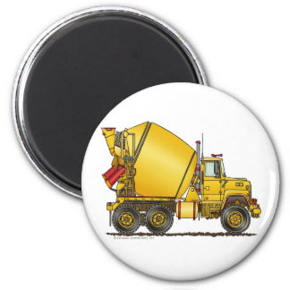 Concrete Mixer Truck Magnets