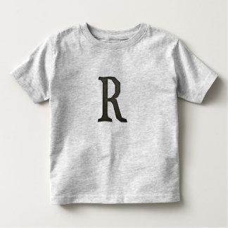 Concrete Monogram Letter R Toddler T-Shirt