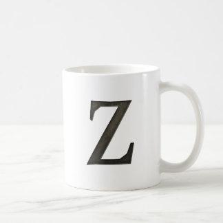 Concrete Monogram Letter Z Coffee Mug
