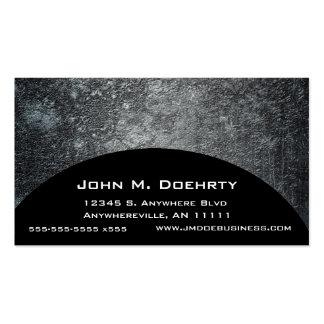 Concrete Moon Texture on Black Business Card