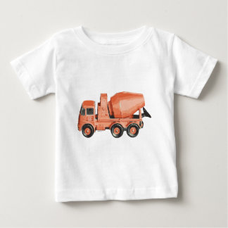 Concrete Orange Cement Toy Truck Baby T-Shirt